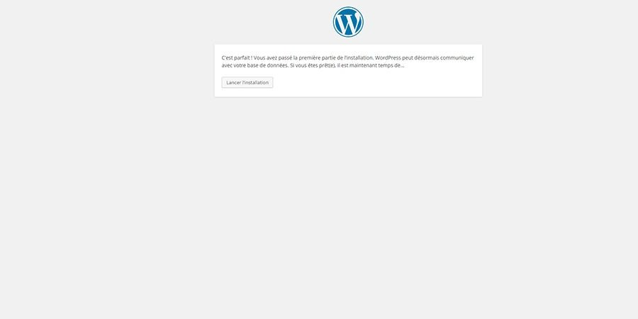 installer wordpress étape 3