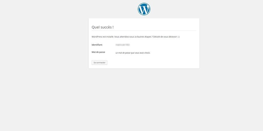 installer wordpress étape 5