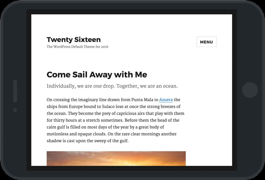 theme twenty sixteen